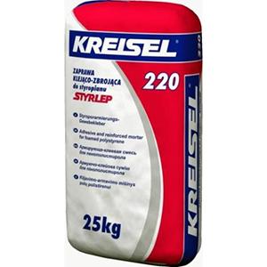 Клей для плит из пенополистирола и устройства слоя для сетки Kreisel 220